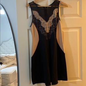Buffalo dress with leather and lace detailing!